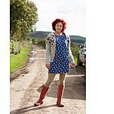 Woman, Rural scene, Rural scene