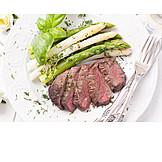 Spargel, Fleischgericht, Spargelgericht