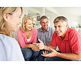 Besprechung & Unterhaltung, Freunde, Ehepaar, Erzählen