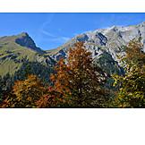 Mountain range, Karwendel, Ahornboden