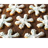Frosting, Christmas cookies, Snowflake