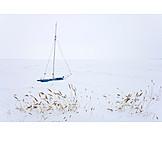 Solitude & Loneliness, Winter, Sailboat