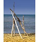 Driftwood, Sandy, Land Art