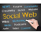 Media, Blackboard, Social Network, Social Web