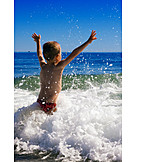 Boy, Wave, Freedom & Independence