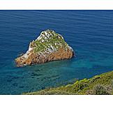 Sea, Rock, Mediterranean coast