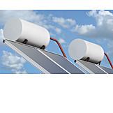 Thermosiphoncollector, Tube collector, Thermosiphon