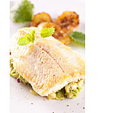European Cuisine, Fish Dish, Trout Filet