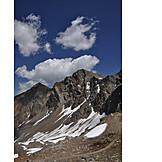 Mountain range, European alps, Completely bald, Sparse, Stubai alps