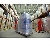 Logistik, Lager, Lagerhalle, Warenbestand, Lagerist