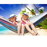 Girl, Friendship, Holiday & Travel, Hammock