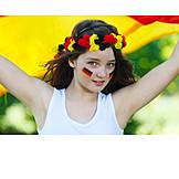 Girl, Soccer fan, German fans