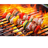 Broiling, Grill, Fire, Bbq skewer