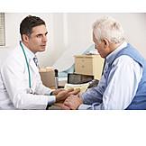 Senior, Consultation, Health Check, Doctor