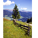 Tirol, Mountains, Fence