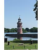 Lighthouse, Moritzburg castle, Niederer großteich