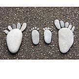 Parent, Stone, Foot