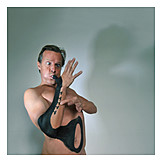 Wind instrument, Playing music, Saxophone, Body paint