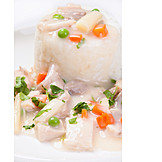 Poultry meat, Geschnetzeltes, Fricassee