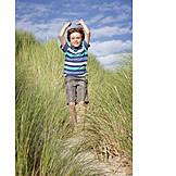 Boy, North Sea, Holidays, Summer Vacation