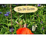 Garden, Shield, Garden Decoration