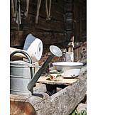 Water body, Watering can, Rural scene, Rustic