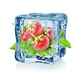 Ice, Strawberry, Frozen