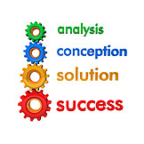 Development, Success, Advice, Solution, Concept, Analysis, Company