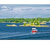Coast, Lake, Boat, Lake huron