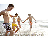 Teenager, Friendship, Togetherness, Vitality, Beach Holiday