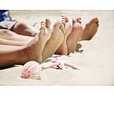 Barefoot, Foot, Beach Holiday, Summer Holidays