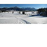 Winter, Trail, Lenggries, Brauneck