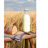 Milk, Food, Bread, Picnic