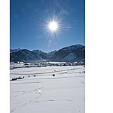 Landscape, Sun, Winter