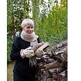 Woman, Wood, Firewood