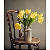 Tulips bouquet, Rustic