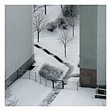 Winter, Trist, Winterly, Backyard
