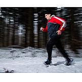 Senior, Winter, Running