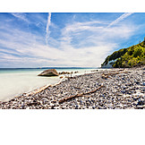 Baltic sea coast, Natural beach, National park jasmund