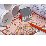 Grundriss, Hausbau, Bauplan