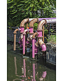 Pipe, Sewage, Waterworks, Drainage