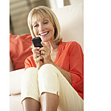Woman, Mobile Phones, Sms