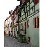 Old town, Alsace, Riquewihr