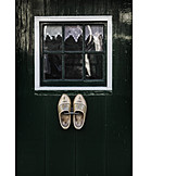 Window, Rural scene, Holland, Clogs