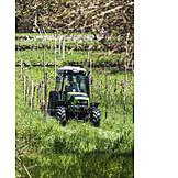 Tractor, Harvesting, Harvest
