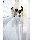 Geschäftsfrau, Besprechung & Unterhaltung, Meeting