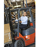 Job & Profession, Logistics, Forklift, Warehouse Clerk