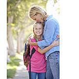 Mother, Embracing, Security, Daughter