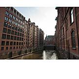 Hamburg, Speicherstadt, Fleet, Binnenalster lake