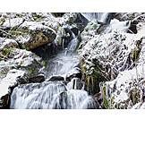 Winter, Gaishöll Waterfalls